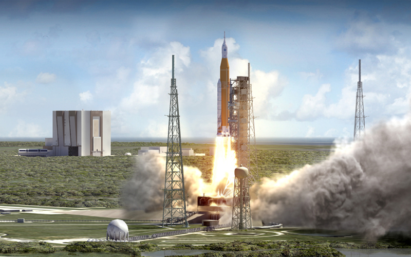 Government Accountability Office has raised concerns over SLS program cost overruns.