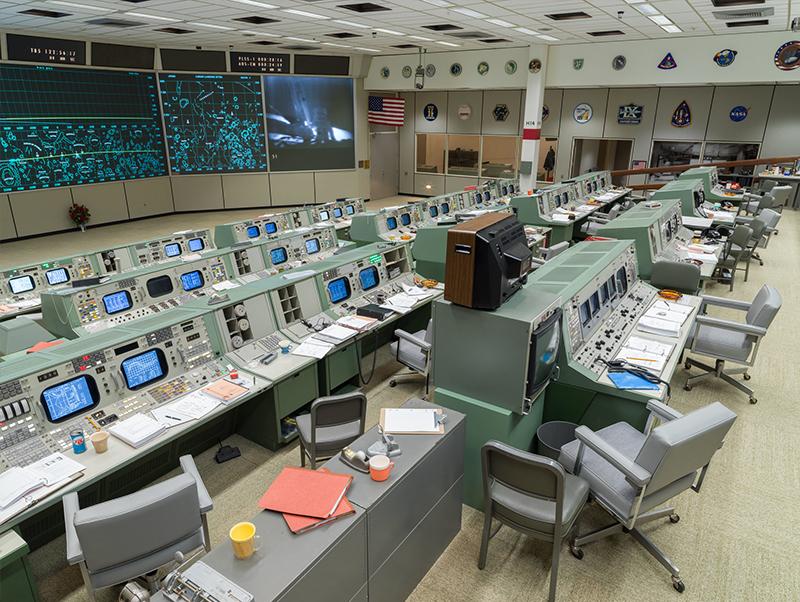 Restored Apollo era Mission Control Gallery 1.