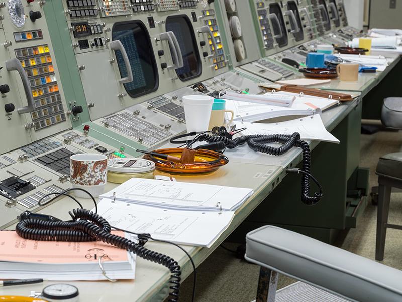 Restored Apollo era Mission Control Gallery 2.