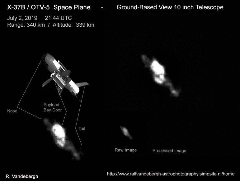 Astrophotographer Ralf Vandebergh has captured an image of the X-37B spaceplane in orbit.