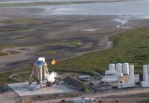 SpaceX abort Starhopper test launch seconds after ignition.
