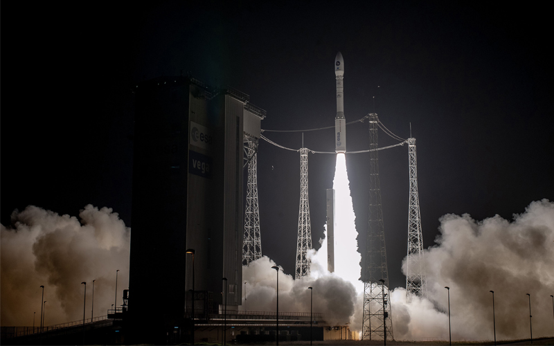 The Falcon Eye 1 spy satellite was lost this morning after an Arianespace Vega rocket failure.