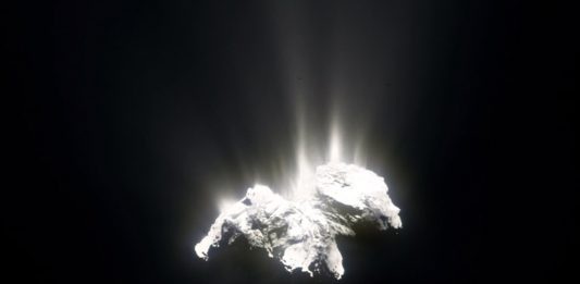 Filmmaker creates a sequence of the Comet 67P/ Churyumov-Gerasimenko using images captured by Rosetta space probe.