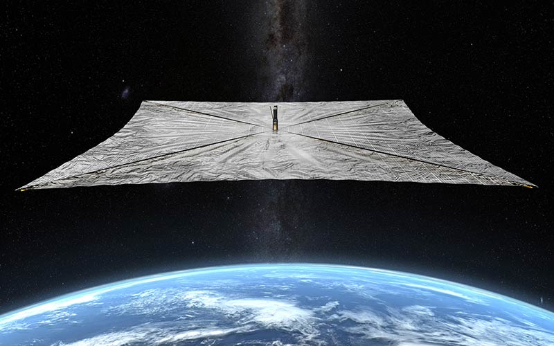 The LightSail 2 CubeSat has successfully demonstrated the use of solar-sail population.