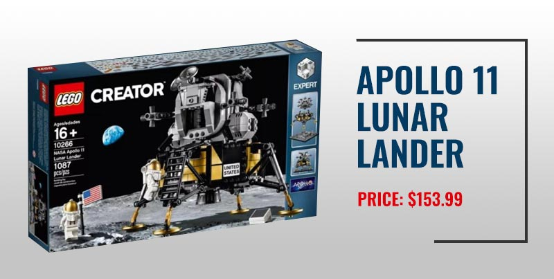 Apollo 11 Lunar Lander Lego set.