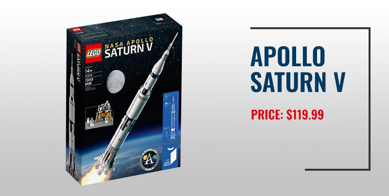 Apollo Saturn V Lego set.