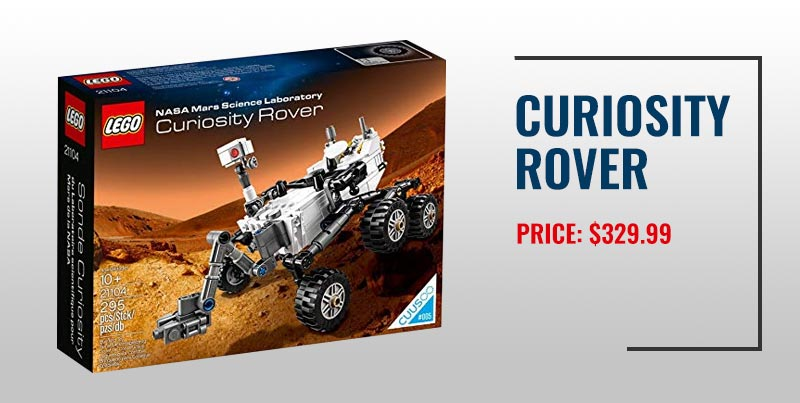 NASA Mars Curiosity Rover Lego set.