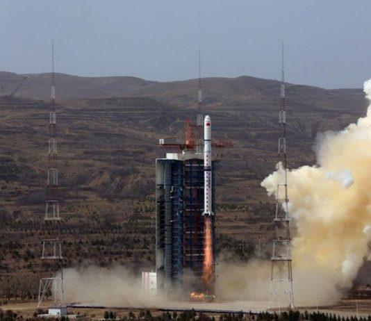 China launch remote sensing satellite aboard Long March 4B.