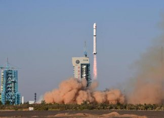China launch Yunhai-1 02 environmental monitoring satellite.