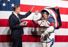 NASA unveils new xEMU spacesuit that will be worn by Artemis crews on the surface of the Moon.