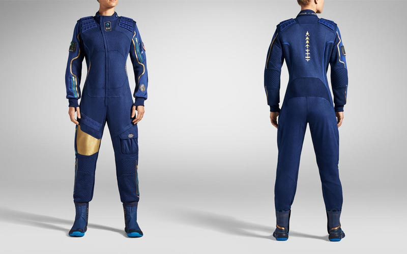 Under Armour produces Virgin Galactic flight suit.