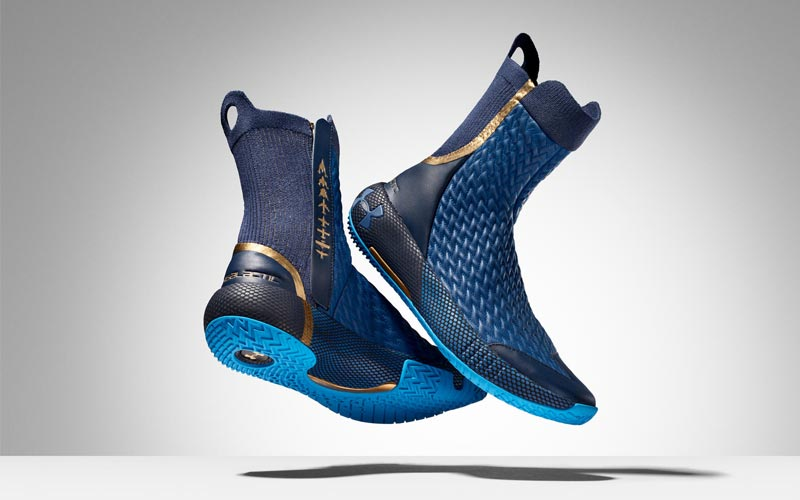 Under Armour produces footwear for Virgin Galactic flight suit.