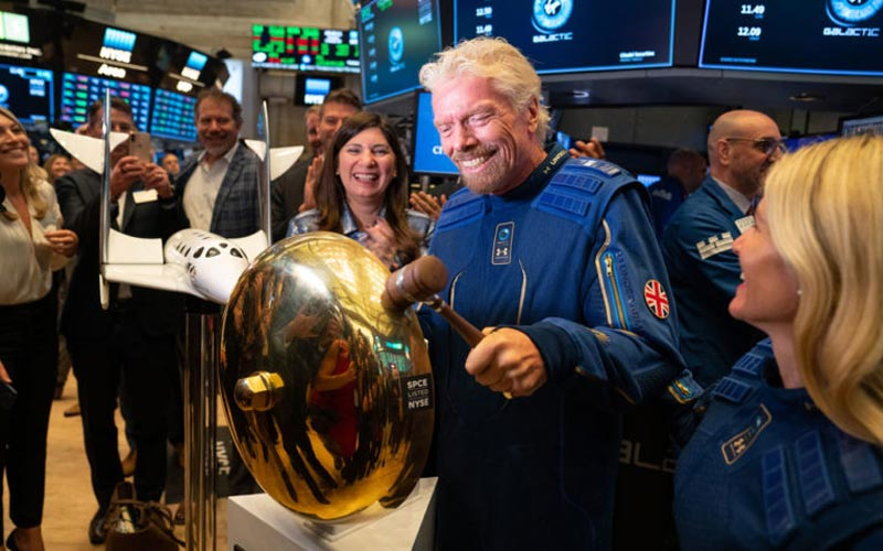 Virgin Galactic stock slumps by more than 6% after the first day of trading.