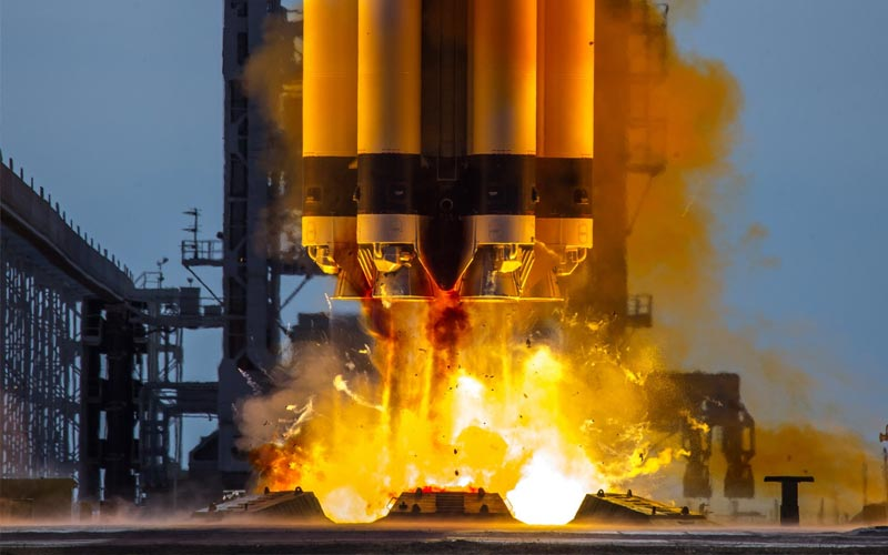 A spacecraft that will perform on-orbit satellite servicing was launched aboard a Proton-M rocket.