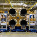 The first SLS core stage has been fitted with its four RS-25 engines.