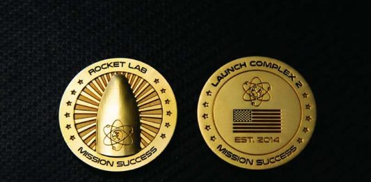 """Rocket Lab has added a $7,5 million Mission Success"""" gold coin to its online store."""
