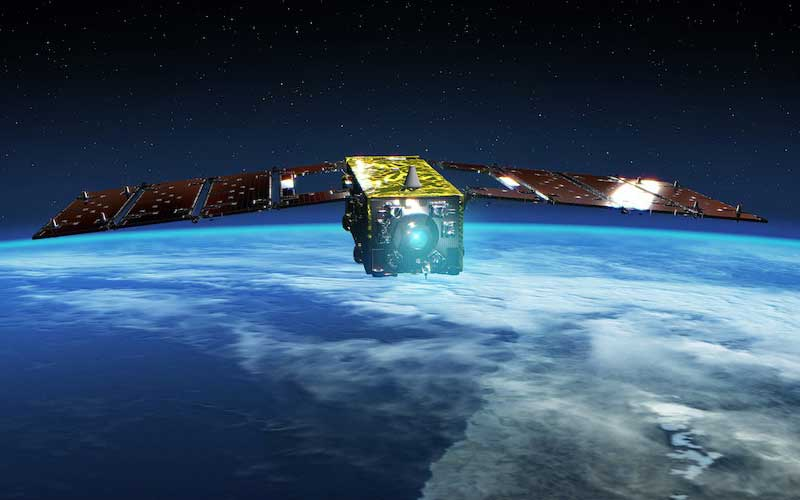 The JAXA SLATS satellite has set the record for the lowest altitude by an Earth observation satellite in orbit.