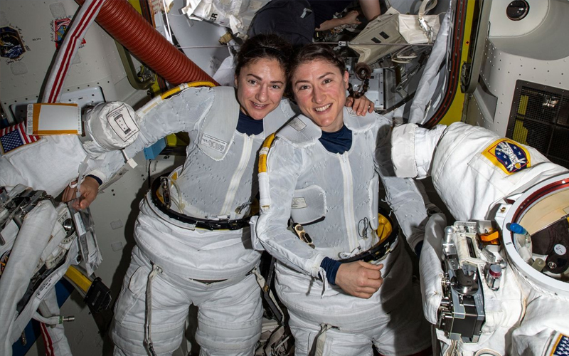 NASA perform first all-female spacewalk - the most important spaceflight moments of 2019.