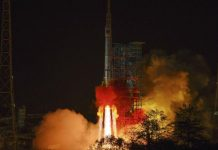 China launch experimental communications satellite aboard Long March 3B.