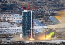 China has launched four satellites aboard a Long March 2D from the Taiyuan Satellite Launch Center.