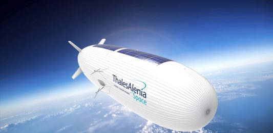 Thales Alenia Space explores the use of Stratospheric blimps for reconnaissance applications.