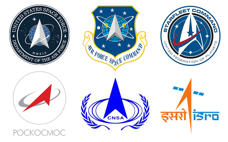 Space agency logos.