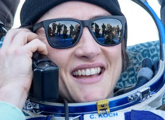 NASA astronaut Christina Koch returns to Earth after a record-breaking 328 days in space.