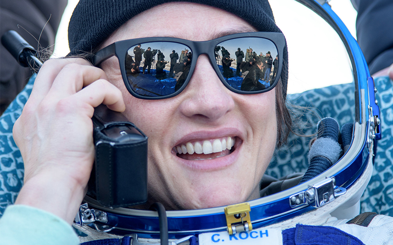 Record-Breaking Astronaut Christina Koch Returns to Earth