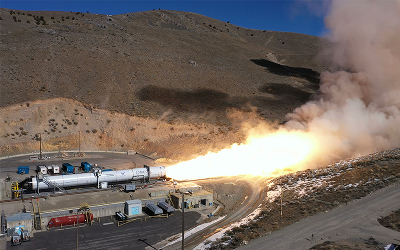 Northrup Grumman has completed a key test of the OmegA second stage.