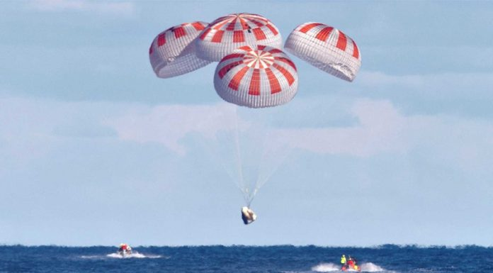 SpaceX lost a test article during a failed parachute test.