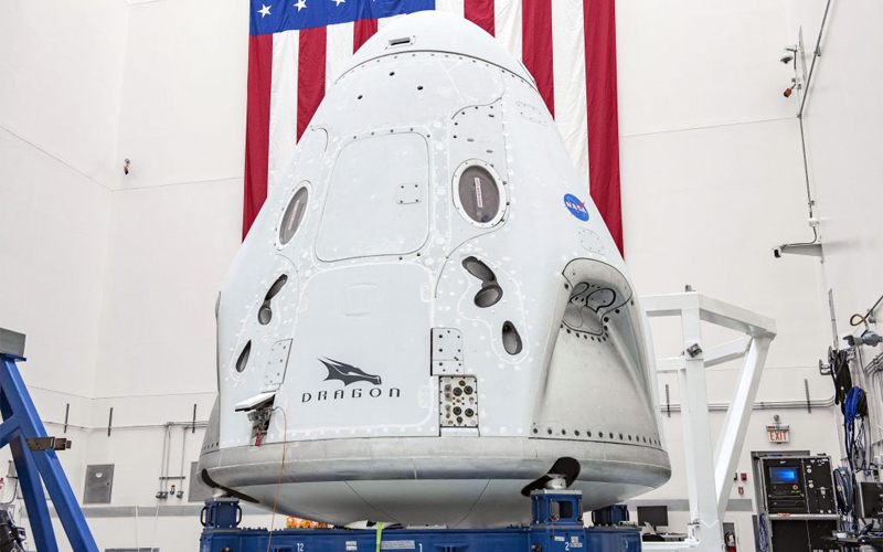 NASA sets a May 27 launch date for the first crewed mission aboard a SpaceX Crew Dragon.
