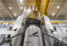 Blue Origin-led National Team deliver lunar lander engineering mockup to NASA's Johnson Space Center.