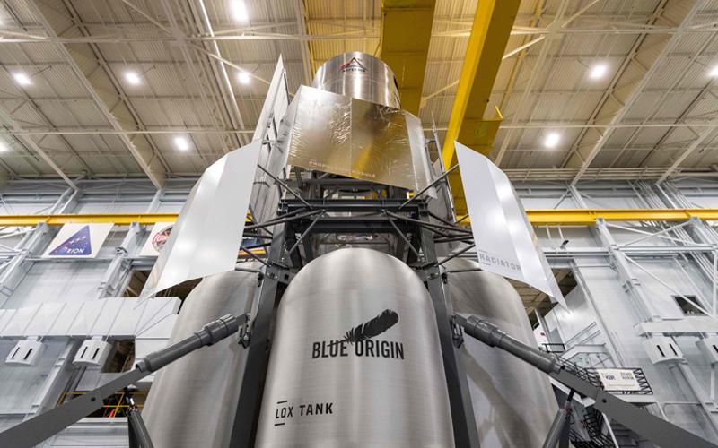 Blue Origin-led National Team deliver lunar lander engineering mockup to NASA's Johnson Space Center.