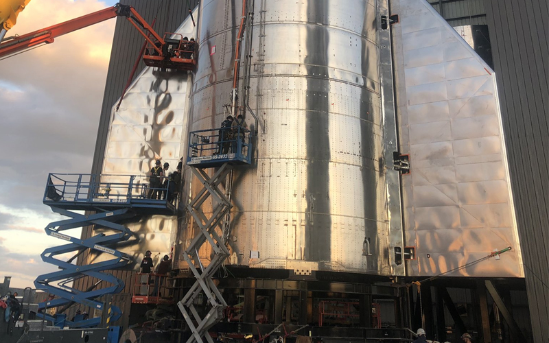 Elon Musk shares details regarding the progress of the SN8 Starship prototype.