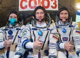 Soyuz MS-17 Kate Rubins, Sergey Ryzhikov and Sergey Kud-Sverchkov arrive at ISS three hours after liftoff.
