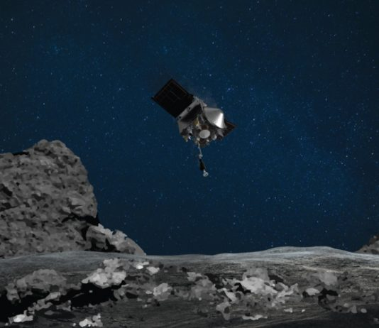 NASA OSIRIS-REx spacecraft collects sample from asteroid 321 million kilometres from Earth.