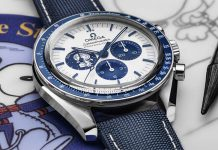 Omega announced the commemorative 50th anniversary Silver Snoopy Award Speedmaster.