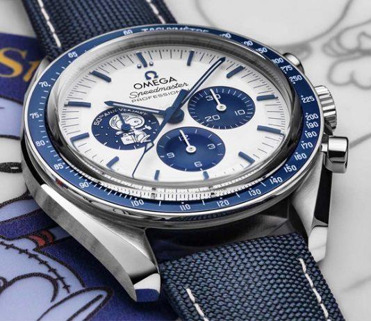 Omega announced the commemorative 50th anniversary Silver Snoopy Award Speedmaster.