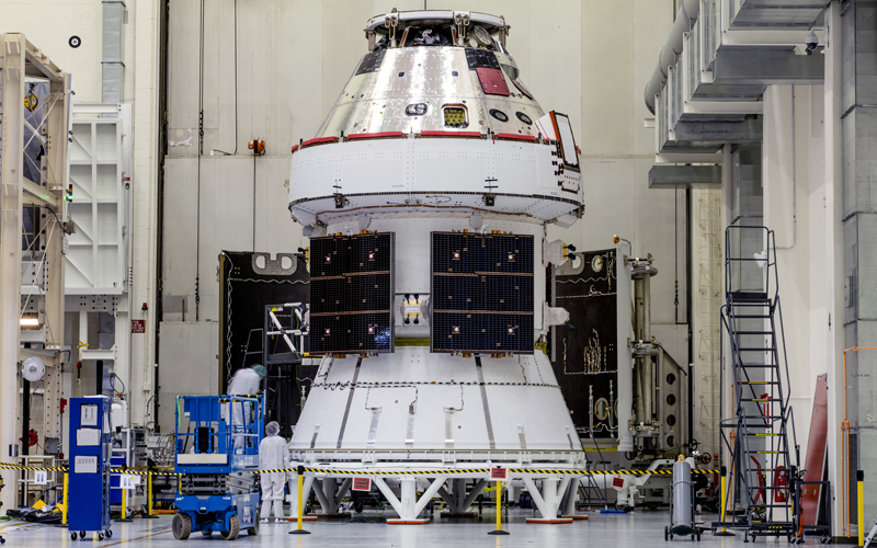 Teams have successfully installed the Artemis 1 Orion crew spacecraft's four solar arrays.