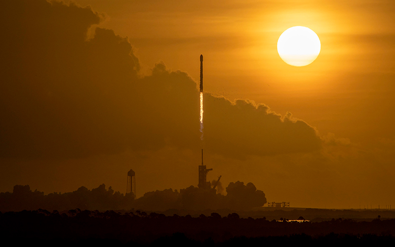 SpaceX launches 60 new Starlink satellites to low Earth orbit.