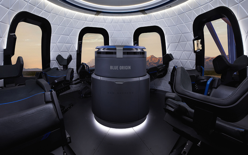 The RSS First Step crew capsule was launched on its maiden mission aboard a New Shepard vehicle.
