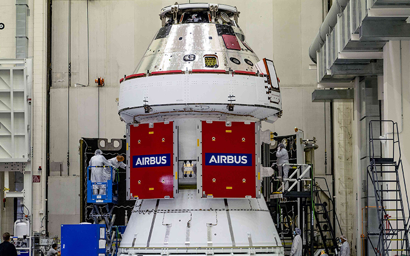 The European Service Module will provide propulsion and other critical functions to NASA's Orion spacecraft | Credit: Airbus