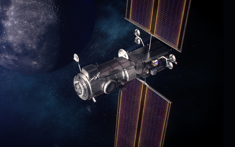 The first two lunar Gateway space station modules will be launched aboard a SpaceX Falcon Heavy.