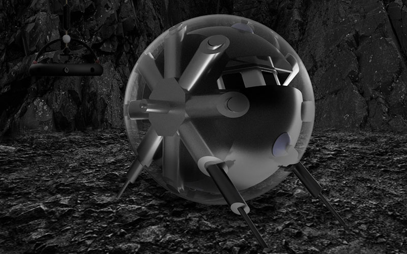 A German-led team proposes a spherical probe to study lunar caves