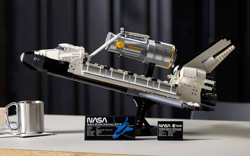 """Lego announced March 22 that it will launch its most """"detailed reimagination"""" of the Space Shuttle Discovery to date on April 1."""