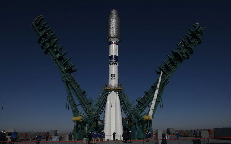 In commemoration of the first human spaceflight in history, Russia's GK Launch Services have given its Soyuz-2 rocket a new colour scheme.
