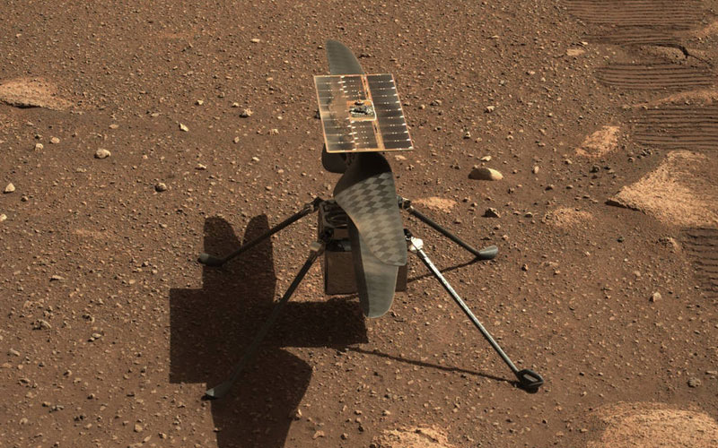 For its maiden flight on Mars, NASA's Ingenuity helicopter will climb to an altitude of three meters and hover for 20 seconds before returning to the Martian surface.