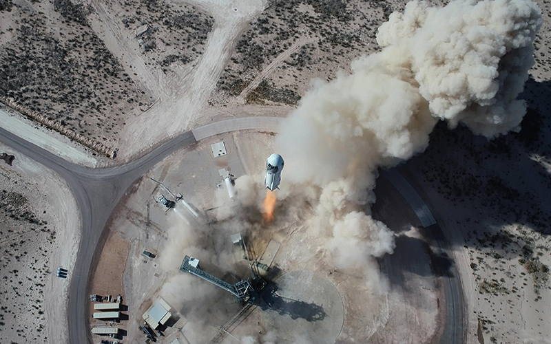 The first seat aboard a Blue Origin New Shepard rocket has been sold for $28 million to a currently anonymous bidder.